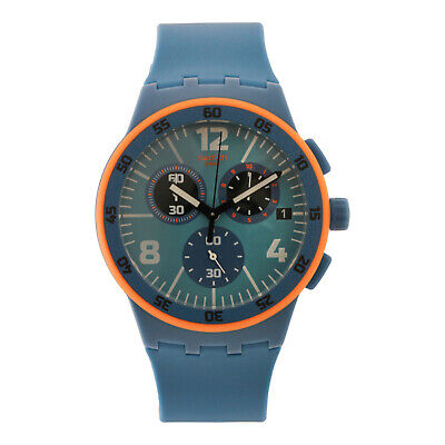 Swatch CAPANNO SUSN413 Men's 42mm Blue Dial Silicon Watch