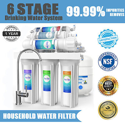 6 Stage Alkaline Mineral Reverse Osmosis Drinking Water Filt