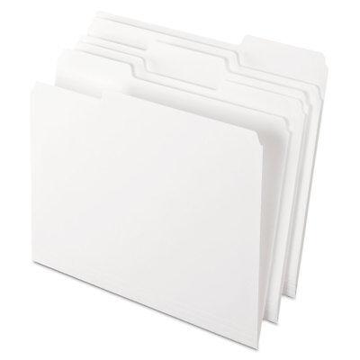 Pendaflex Colored File Folders 13 Cut Top Tab Letter White 100box 15213whi