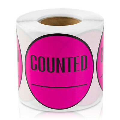 Counted Stickers Inventory Control Blank Store Labels 2 Round 5pk Pink