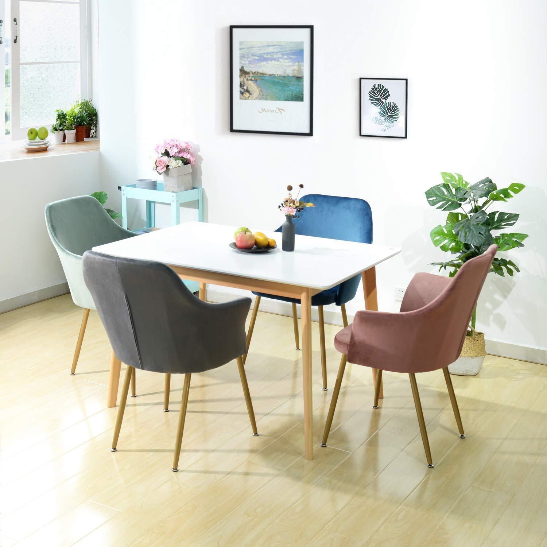 Salle A Manger Retro détails sur fauteuil en tissu velours rétro, moderne chaise salle a manger  rembourré avec pa