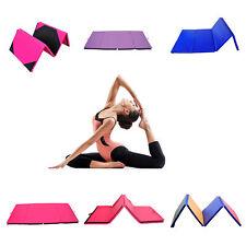 Yoga Gymnastics Mat Folding Exercise Fitness Pilate Crash Mat 6FT 8FT 10FT Gym