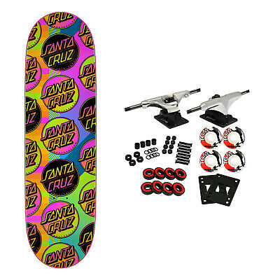 "Santa Cruz Skateboard Complete VX Afterglow MultiDot 9.0"" Quad X Technology"