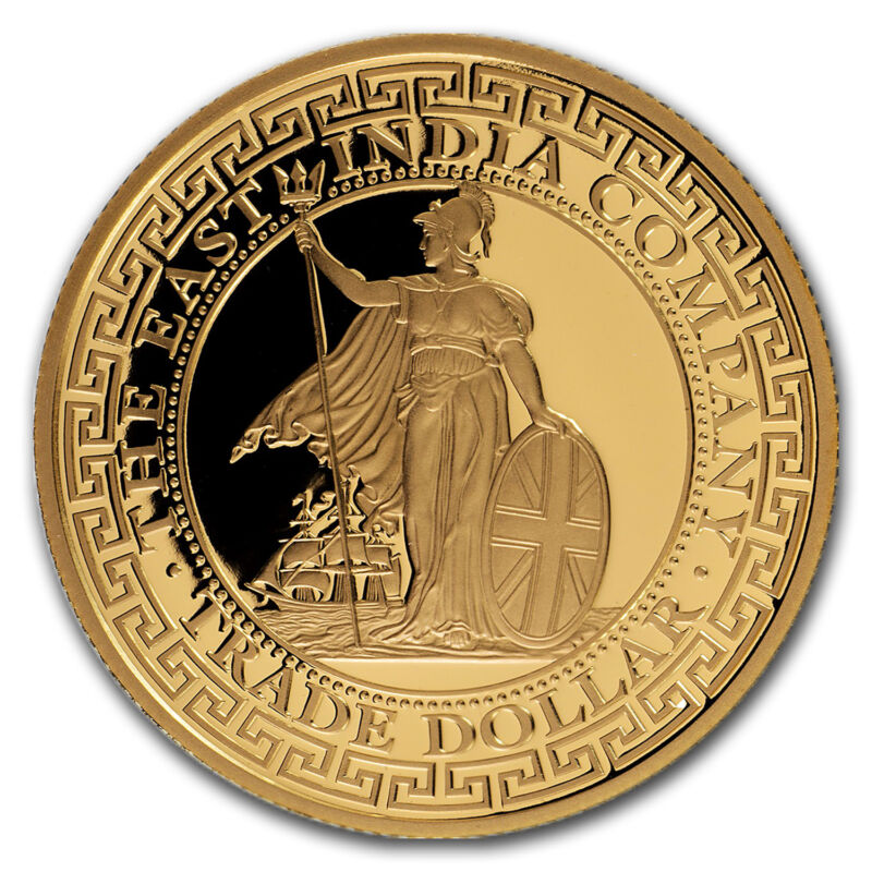 2018 Niue 1 Oz Gold Proof British Trade Dollar Restrike - Sku#162688