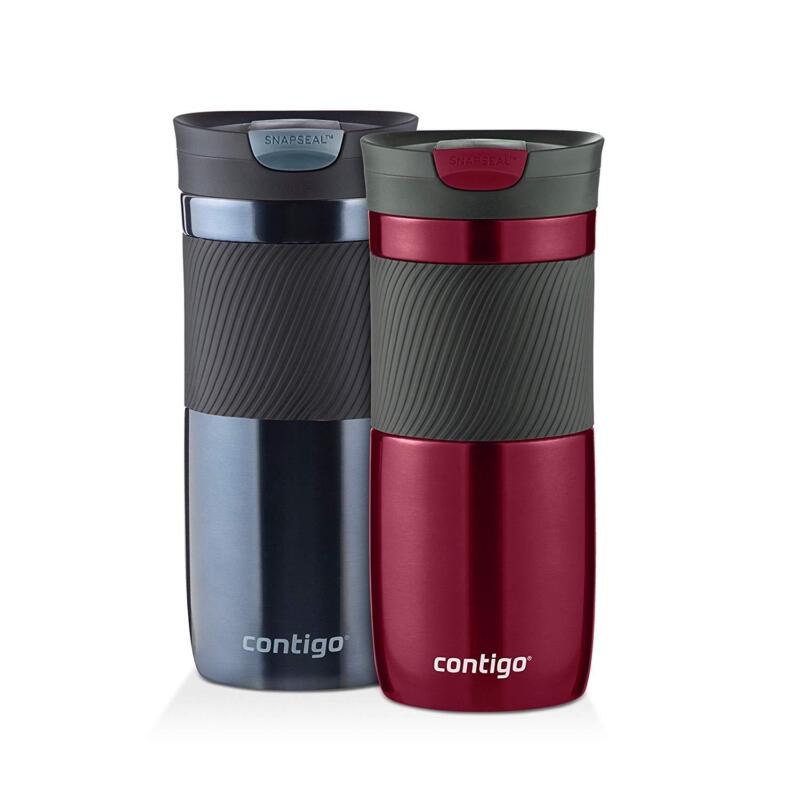 2-Pack SnapSeal Vacuum-Insulated Travel Mug 16 oz Coffee Bev