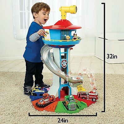 Paw Patrol My Size Lookout Tower With Exclusive Vehicle  Rotating Periscope  New