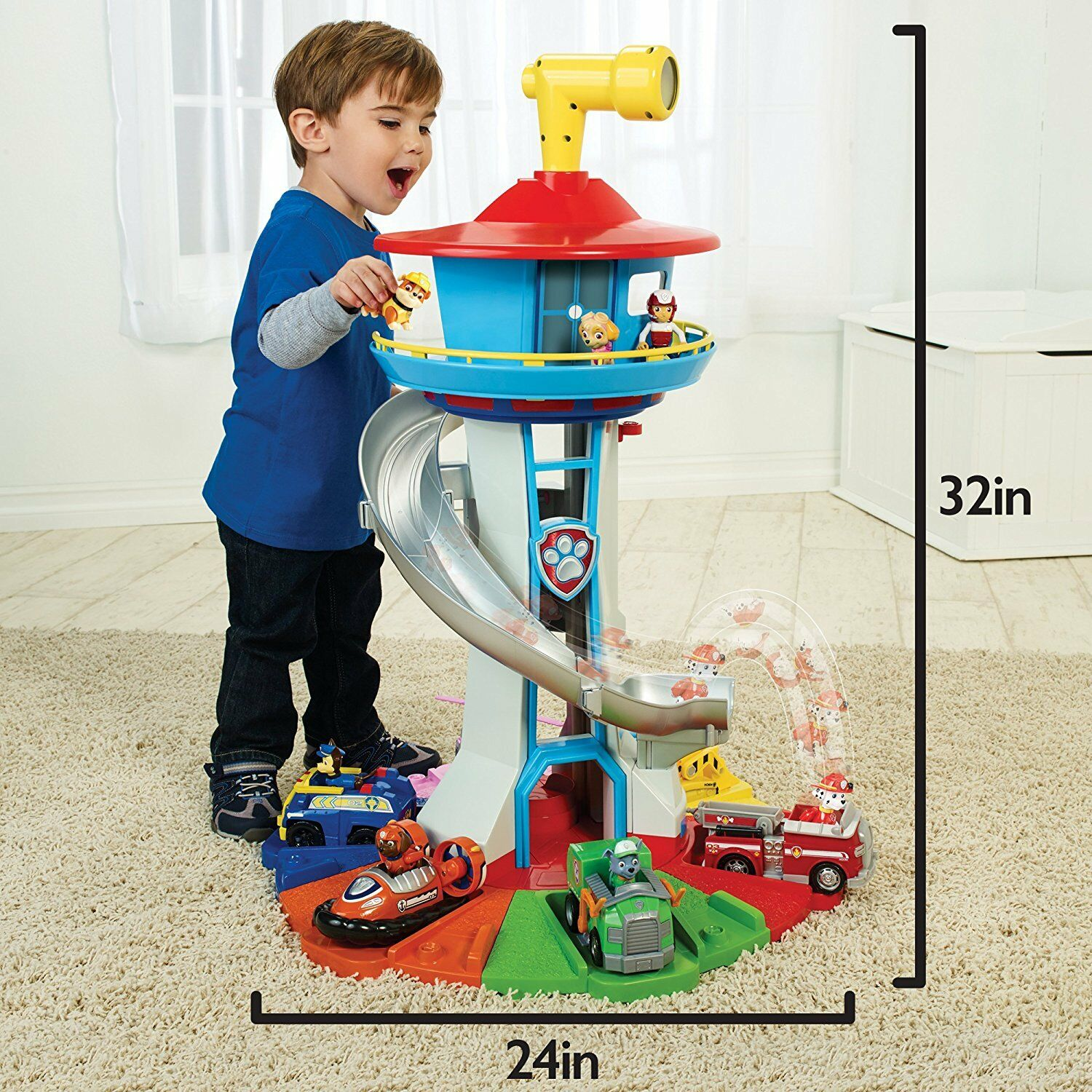 Paw Patrol My Size Lookout Tower With Exclusive Vehicle, Rot