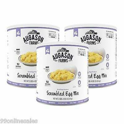 Augason Farms Scrambled Egg Dried Powder Mix 3 Pack Emergency Survival Camp Food