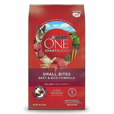 Bites Dry Food - Purina ONE Natural Dry Dog Food - Beef & Rice - Small Bites -8/16.5/31.1 lb. Bag