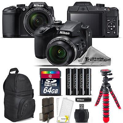 Nikon COOLPIX B500 Digital Camera 40x Optical Zoom + Tripod + Backpack -64GB Kit