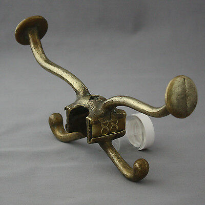 Antique Double Brass Victorian School hooks