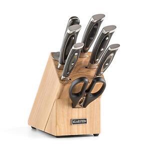 Klarstein Katana Design Messerset 8-teilig Küchen Messerblock Holzblock Kochen