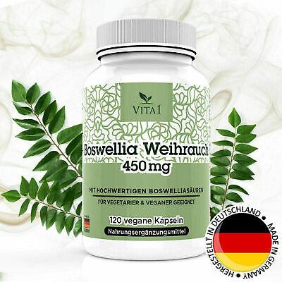 Boswellia Serrata Extrakt ( Boswellia Weihrauch 65% Serrata Extrakt 120 vegane Kapseln á 450mg Glutenfrei)