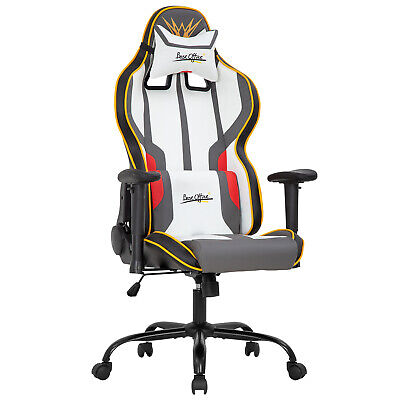 Gaming Chair Racing Office Chair Pc Computer Chair With Lumbar Support Headrest