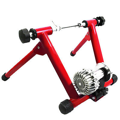 Indoor Fluid  Bike Trainer Stand Bicycle Resistance Exercise Stationary Red