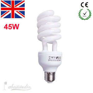 E27 5500K 220V 45W Photo Studio Bulb Video Photography Daylight Lamp Energy Save