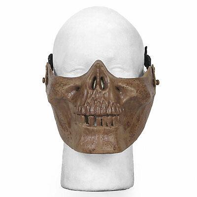 Bt Halloween Costumes (Airsoft Mask Half Face Dark Tan Skull Jaw Tactical Protective Halloween)