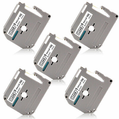 5pk Mk-121 9mm 0.35 Label Tape P-touch Compatible For Brother Pt65 Pt90 Pt110