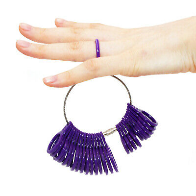 Silver Ring Sizer Finger Sizing Measuring Stick Metal Ring Mandrel US Size