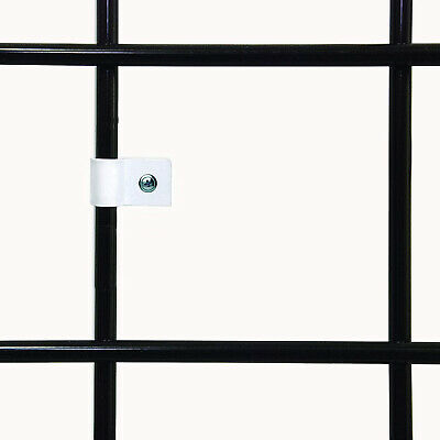 White Gridwall Mount Brackets Economical Grid Panel Flush Mounting Clips