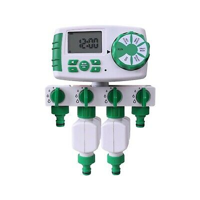 Aqualin Automatic 4-Zone Irrigation System Controller Garden Water Timer Wate...