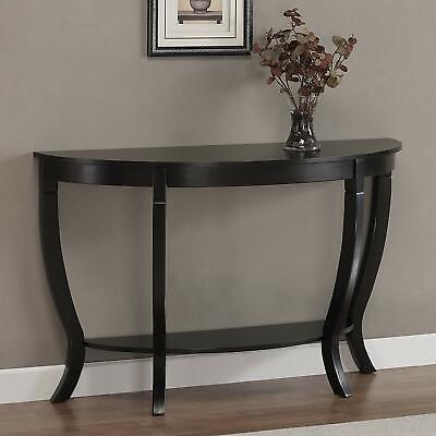 "48"" Half Moon Console Table Entryway Sofa Accent Display Wooden Living Room Hall"