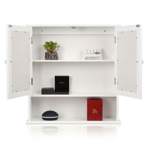 Hängeschrank Badschrank Wandschrank Spiegelschrank Küchenschrank Holz Weiß