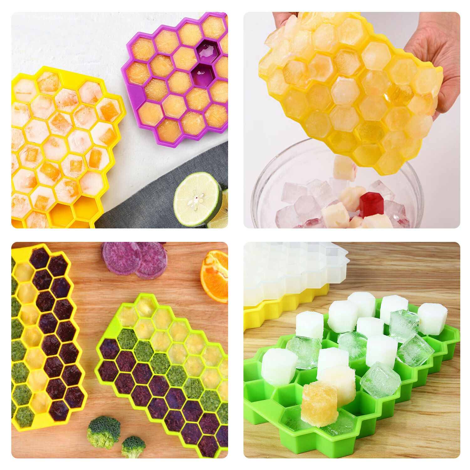 37 Grids Silicone Ice Cube Tray Maker Mold Flexible Cocktails Whiskey Home Bar Bar Tools & Accessories