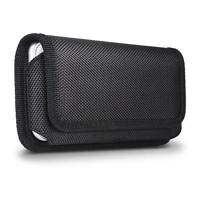 Nylon Horizontal Belt Clip Pouch Magnetic Holster Case For iPhone X XR 6 8 Plus Clip Case Plus Magnet