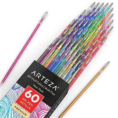 Arteza Gel Ink Pens Refills Set Of 60