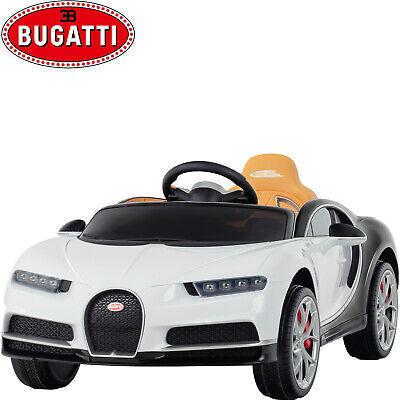12V Bugatti Chiron Electric Kids Ride On Car with Remote Control Music Fun White