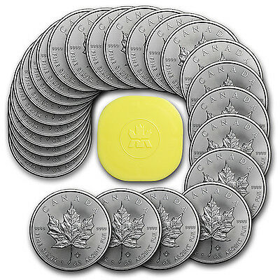 2017 Canada 1 oz Silver Maple Leaf BU (Lot, Roll, Tube of 25) - SKU #117256