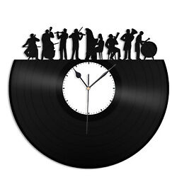 Orchestra Vinyl Wall Clock Classical Music Lover Gift Home Room Decoration