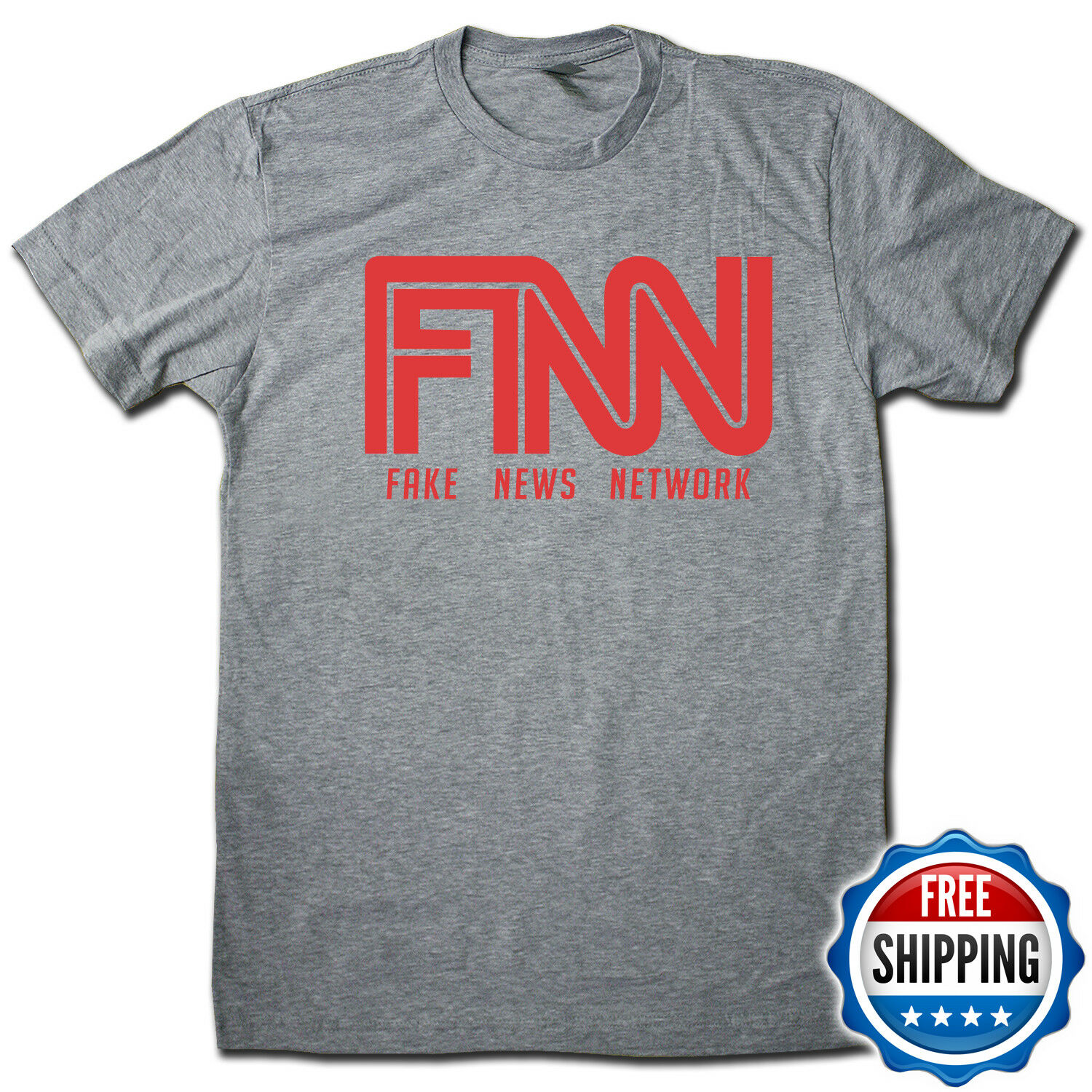 9ca2a7bcaf Details about FNN Fake News Network T-Shirt! Hilarious & Funny Premium  Cotton Pop Culture Tee!