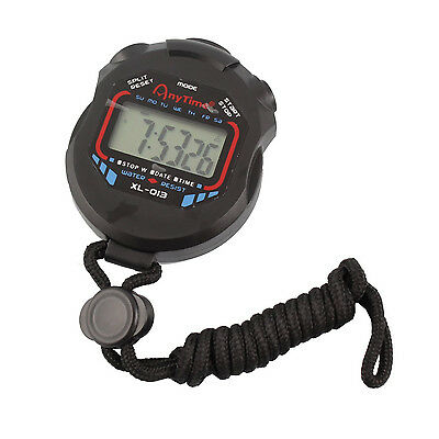 Professional Handheld Digital LCD Chronograph Sports Stopwatch Timer Stop Watch