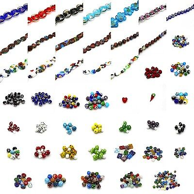 Lampwork Glass Beads - Gold & Silver Foil, Klimt, Porcelain, & Mix Millefiori