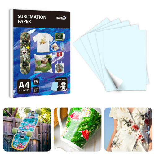 100 Sheets A4 Dye Sublimation Paper Heat Transfer for Inkjet T-Shirt Mug Cotton