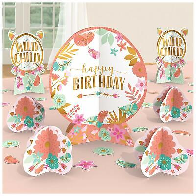 BOHO TABLE DECORATING KIT Happy BIRTHDAY Party Decoration Wild Child Centerpiece](Boho Birthday Party)
