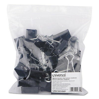 Universal Medium Binder Clips Zip-seal Bag 58 Capacity 1 14 Wide Black 36