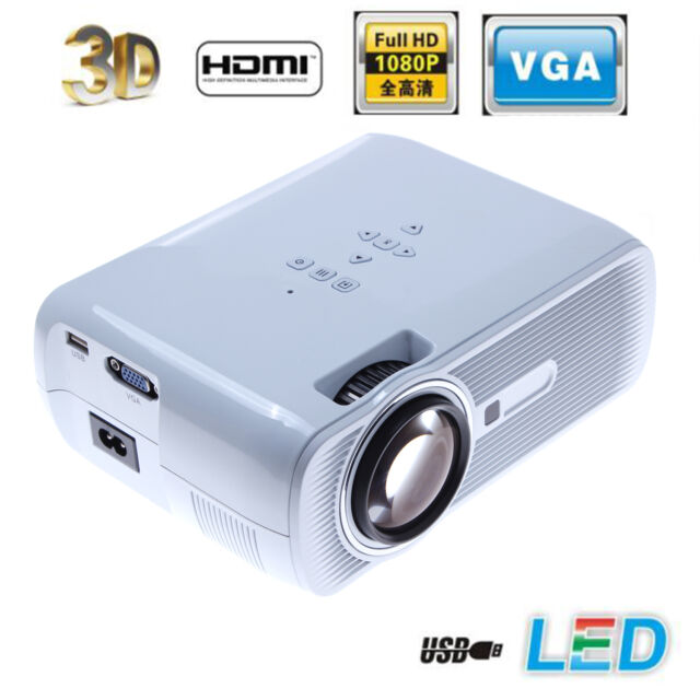 Smart Home Theater Projector in Speaker 3000Lumens 3D LED Poland Fast Shipping