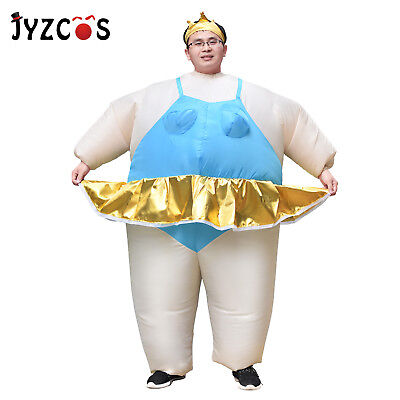 Inflatable Ballerina Halloween Costume Birthday Party Dress Adult Blow Up Suit