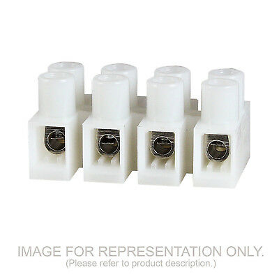 6 Position Euro Style Wire Connector 8mm 20a 600v 20-12 Awg 100 Pack