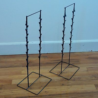 2 - Black Double Round Strip Potato Chip Candy Clip Counter Display Rack