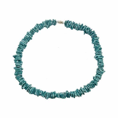 "Hawaiian Jewelry Ocean Blue Chip Puka Shell Surfer Choker Hawaii Necklace 16"""