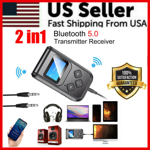 2 in1 Bluetooth USB Audio Adapter Transmitter Receiver for TV/PC Car AUX Speaker