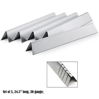 Replacement Weber Stainless Steel Flavorizer Bars 7539, 7540, Set of 5, 24.5