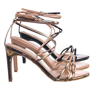 Desired06 High Heel Thin Strappy Dress Sandal - Women Criss Cross Evening Shoes