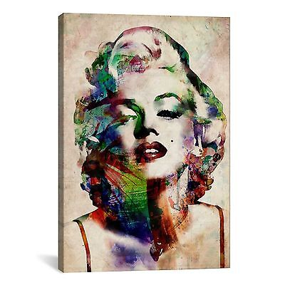 iCanvas Michael Thompsett Watercolor Marilyn Monroe Canvas Print Wall Art,18x12