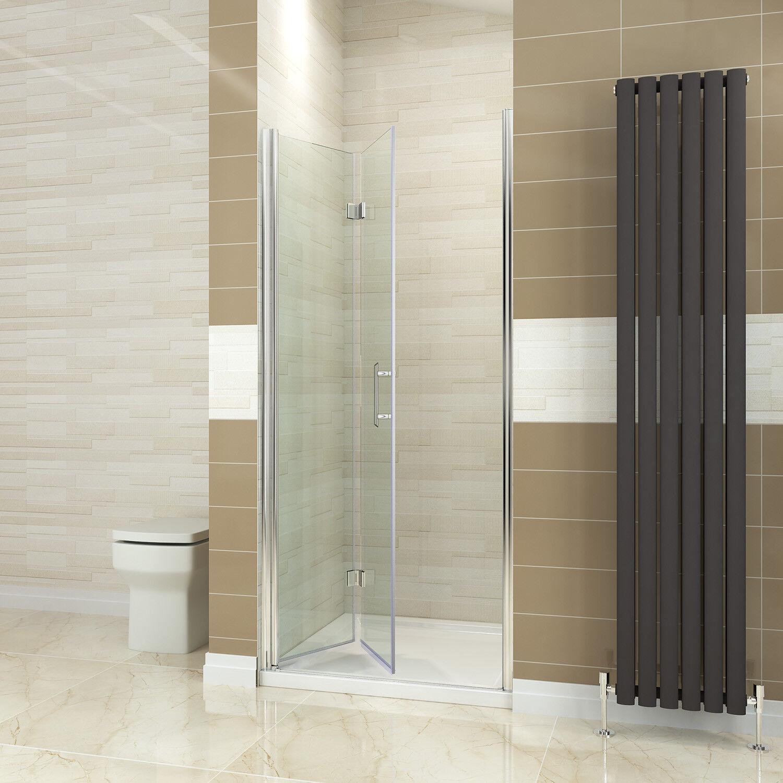 Details About Bi Fold Shower Door Enclosure Frameless Glass Screen Panel 700 760 800 900 1000