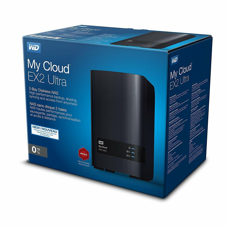 WD Western Digital My Cloud Ultra EX2 Leergehäuse NAS 2 Bay WDBVBZ0000NC NAS 0TB